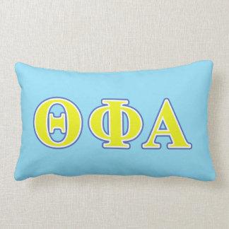Theta Phi Alpha Yellow and Blue Letters Lumbar Pillow