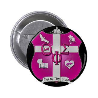 theta phi sigma shield 2 inch round button