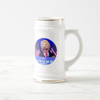 TheTrumpPuppet Stein (White with Gold Accents)