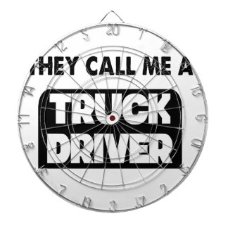 they call me a truck driver dartboard