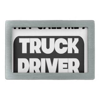 they call me a truck driver rectangular belt buckle