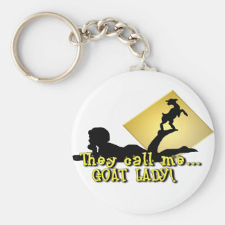 They Call Me GOAT LADY! Basic Round Button Keychain