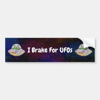 They Come in Peace UFO I Brake For UFOs Bumper Sticker
