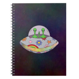 They Come in Peace UFO Notebook