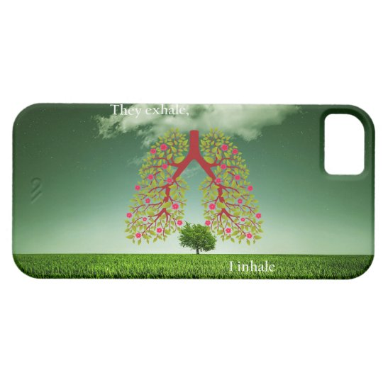 They exhale, I inhale iPhone 5 Cover
