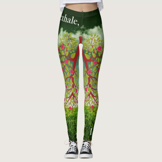 They exhale, I inhale Leggings