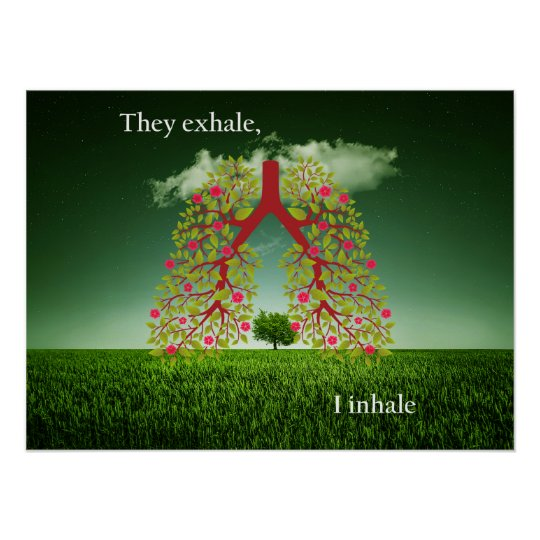They exhale, I inhale Poster