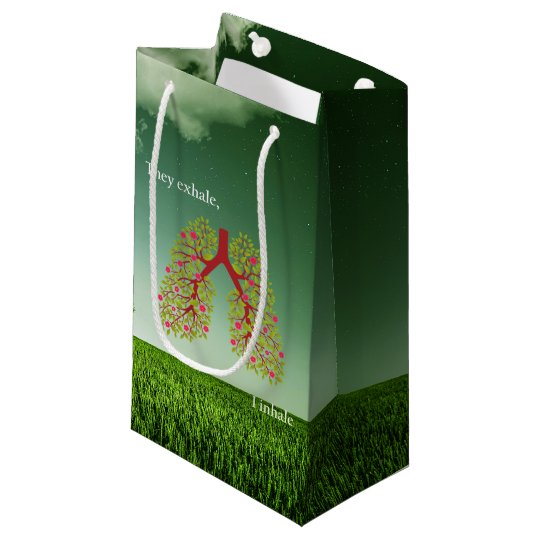 They exhale, I inhale Small Gift Bag