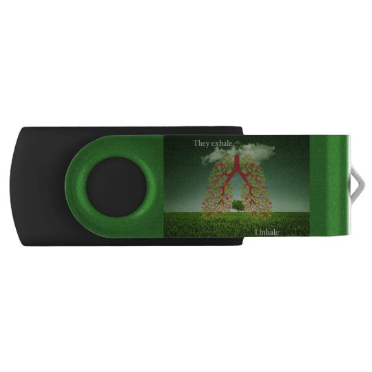 They exhale, I inhale Swivel USB 2.0 Flash Drive