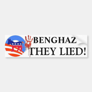THEY LIED BUMPER STICKER