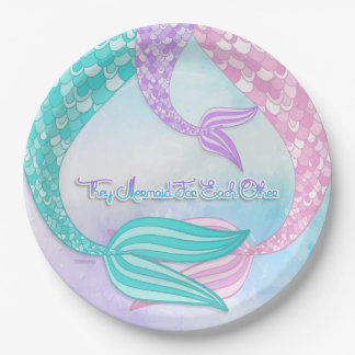They Mermaid For Each Other 9 Inch Paper Plate