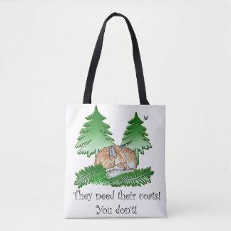 They Need Their Coats! Anti Fur Fox Bag