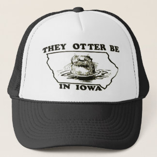 They Otter Be in Iowa Mesh Trucker Hat Cap