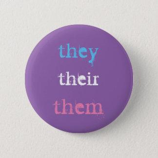 they (preferred pronoun) 2 inch round button