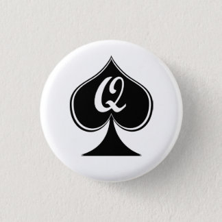 they queen of spades 1 inch round button
