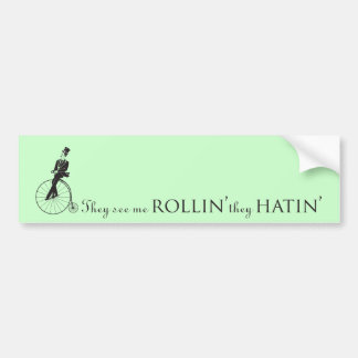 They See Me Rollin' Bumper Sticker Mint