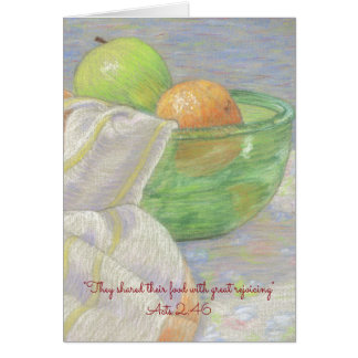 They Shared Their Food~ Scripture Card