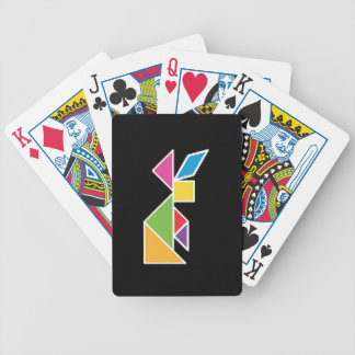 they tangram rabbit rabbit bicycle playing cards