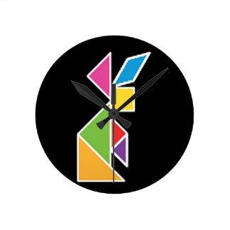 they tangram rabbit rabbit clocks