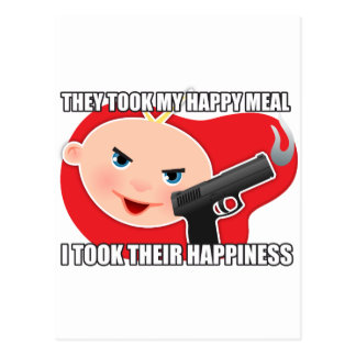 They took my happy meal postcards