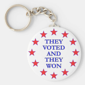 They Voted They Won Basic Round Button Keychain