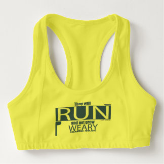 They Will Run And Not Grow Weary Sports Bra