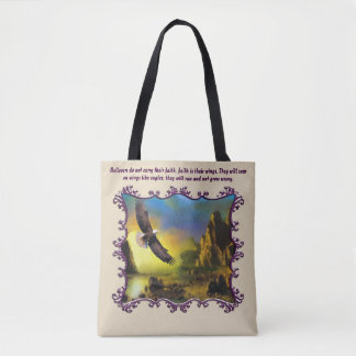 They will soar on wings like eagles tote bag