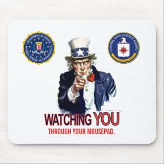 They're watching you mouse pad