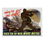 They've Got The Guts - Back 'Em Up With More Metal Poster