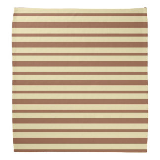 Thick and Thin Beige and Brown Stripes Bandana