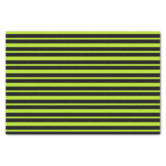 Thick and Thin Lime Green and Black Stripes Tissue Paper