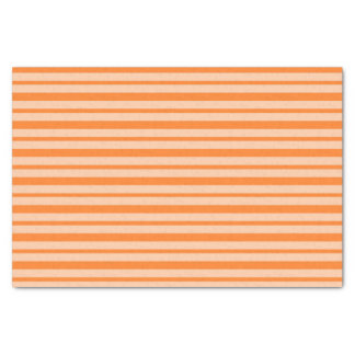 Thick and Thin Orange Stripes Tissue Paper