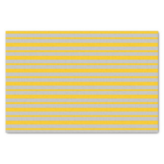 Thick and Thin Silver and Gold Stripes Tissue Paper
