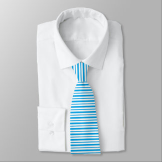 Thick and Thin Turquoise and White Stripes Tie