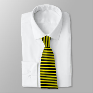 Thick and Thin Yellow and Black Stripes Tie