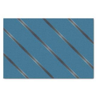 Thick Carbon Metallic Diagonal Stripes Tissue Paper