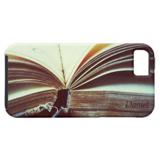 thick old book with frayed edges iPhone 5 case