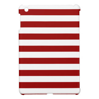 Thick Red and white lines, geometric pattern iPad Mini Covers