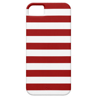 Thick Red and white lines, geometric pattern iPhone 5 Covers
