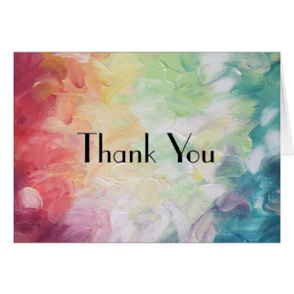 Thick Textured Abstract Paint Thank You Card