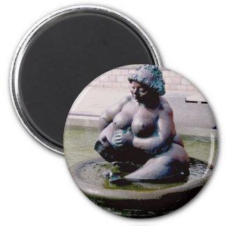 Thick Wilhelmine 2 Inch Round Magnet