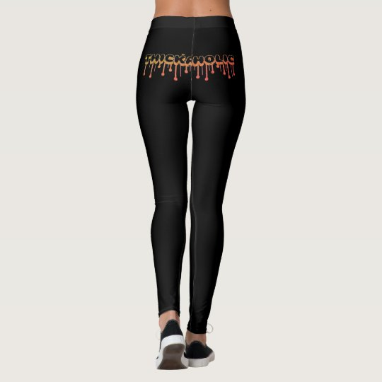 Thickaholic, Red, Gold & Black Leggings