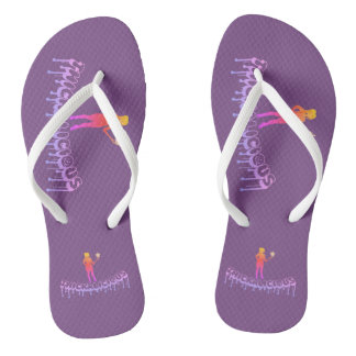 Thickalicious, Purpel Adult, Slim Straps Flip Flops