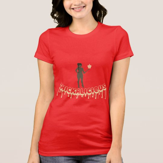 Thickalicious, Red & Tan Leggings T-Shirt