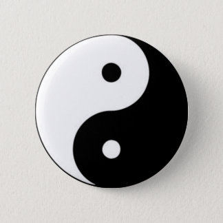 Thickly the polar fist positive and negative 2 inch round button