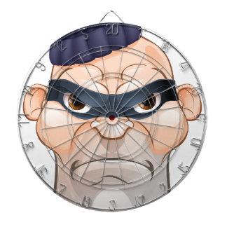 Thief or Burglar Criminal Cartoon Character Dartboard