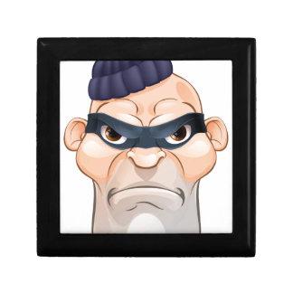 Thief or Burglar Criminal Cartoon Character Gift Box