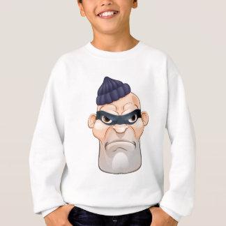 Thief or Burglar Criminal Cartoon Character Sweatshirt