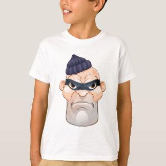 Thief or Burglar Criminal Cartoon Character T-Shirt