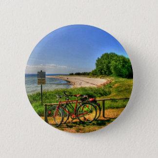 Thiessow Beach on Ruegen Island 2 Inch Round Button